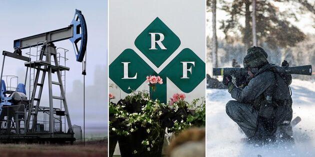 Vapen och olja i LRF:s fondportfölj