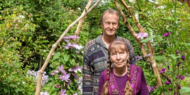 Kolla in den lummiga sagoträdgården i Småland