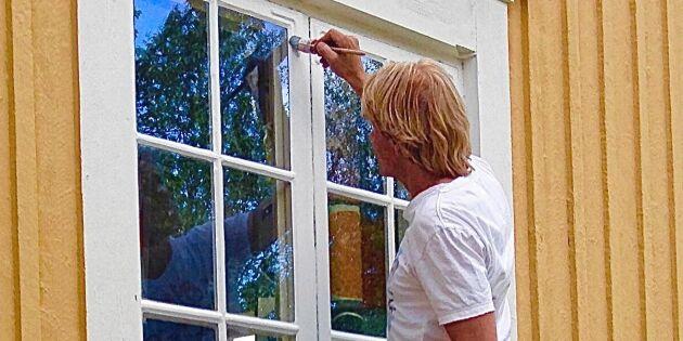 Måla huset med linoljefärg – målarmästarens bästa tips