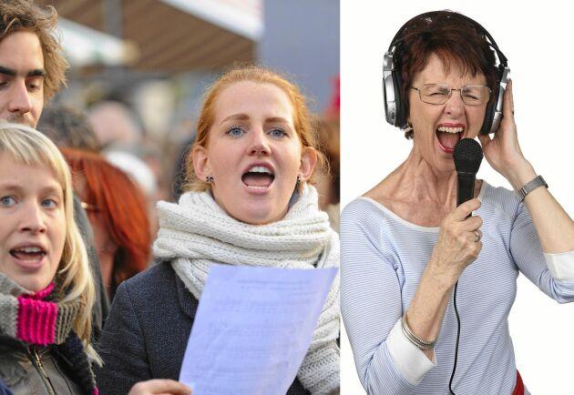 Ett intresse som också är bra för hälsan är att sjunga i kör.