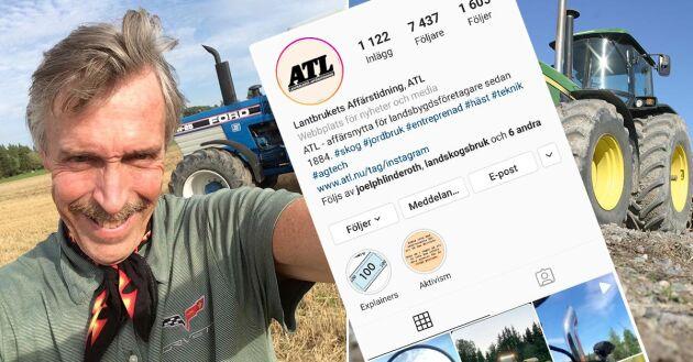 Kenneth Fransson, tidigare chefredaktör på Traktor Power, rattar från och med nu ATL:s Instagram och Snapchat och lovar att det blir mycket traktor, maskin och motor.