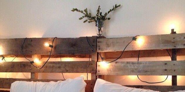 Rama in sängen med lastpallar