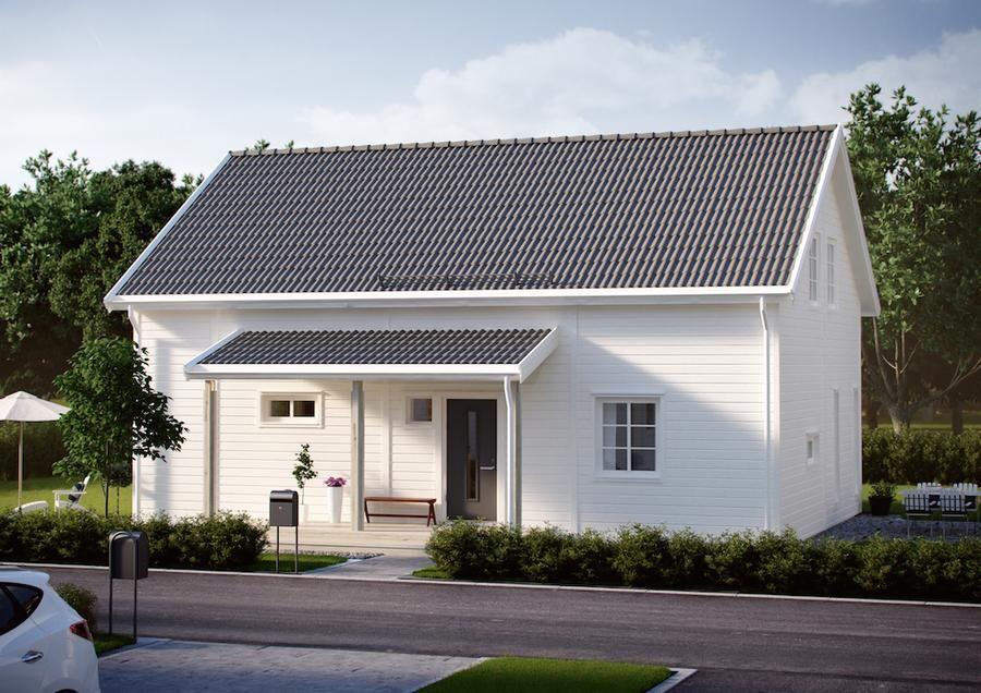 Flexibelt hus i litet format. Foto: Smålandsvillan.