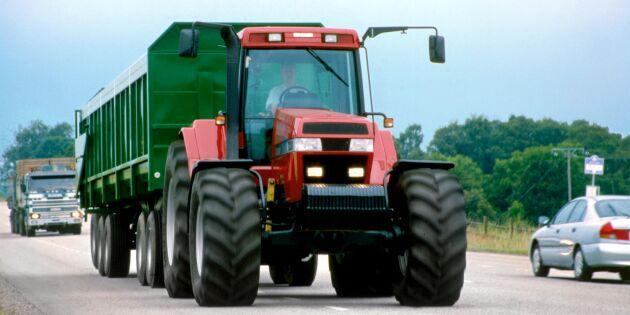 Farthinder stoppar traktortrafik