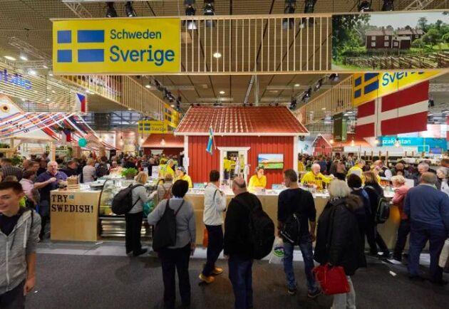 Sveriges monter under Grüne Woche 2018.