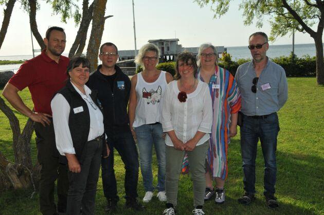 Nya styrelsen: Elof Nilsson, Gudrun Haglund Eriksson, Thomas Eriksson (nyvald), Anna Olsson (nyvald), Claudia Dillmann, Maria Edman och Ulf Ekholm.