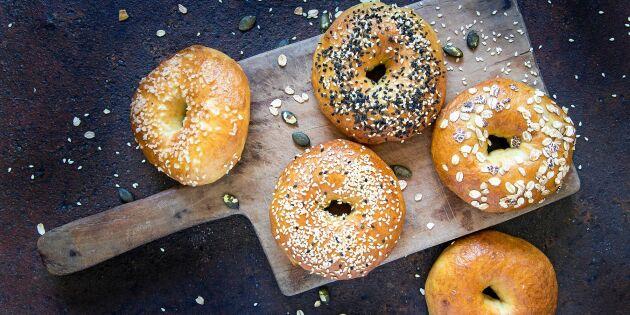 Goda bagels till frukost, lunch – eller middag!