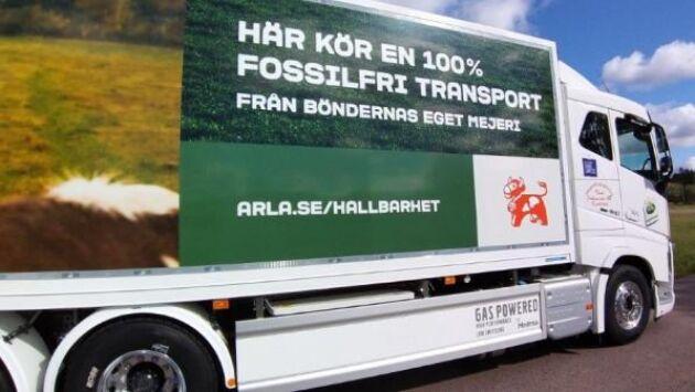 """""""Vi sluter inte bara det ekologiska ekosystemet utan även det ekonomiska"""", säger Patrik Hansson, vd Arla Sverige, i ett pressmeddelande om de nya biogaslastbilarna."""
