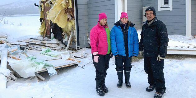 """Helgens storm förstörde flera av bygdens hus: """"Otroligt sorgligt att se"""""""
