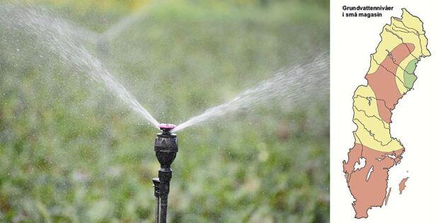 Grundvattennivåerna rekordlåga