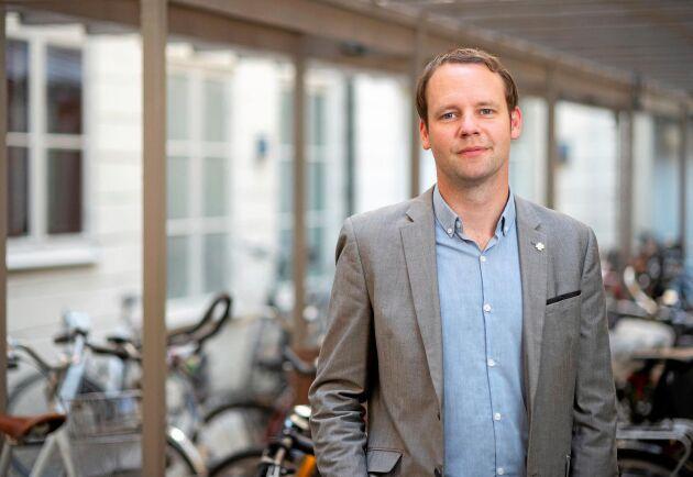 Centerpartiets energi- och klimatpolitiske talesperson Rickard Nordin.