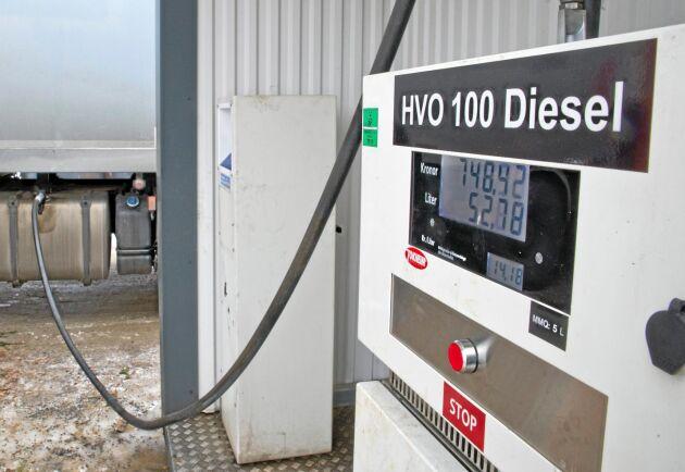 Bristen på HVO kan leda till att allt fler entreprenörer tvingas gå tillbaka till vanlig diesel.