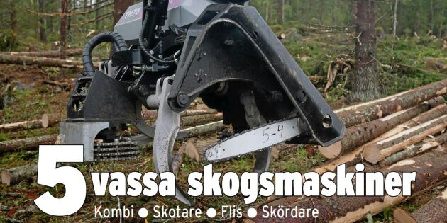 Specialutgåva: 5 nya skogsmaskiner i fokus