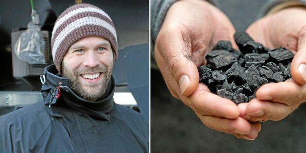 Modern mila ger kol och gas