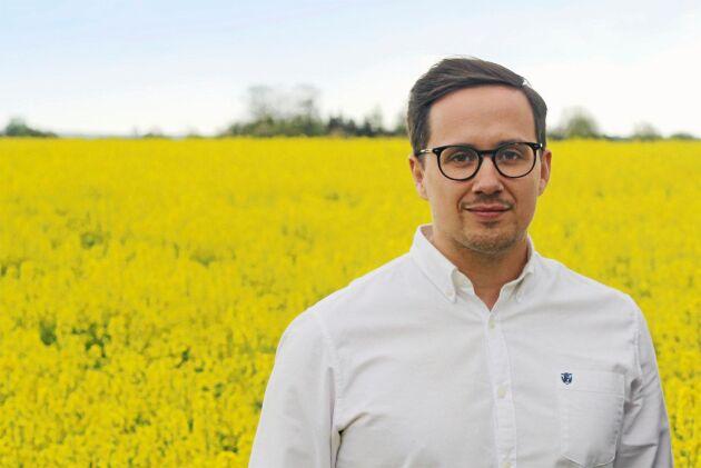 Victor Ebel, spannmålsansvarig på Svenska Foder.
