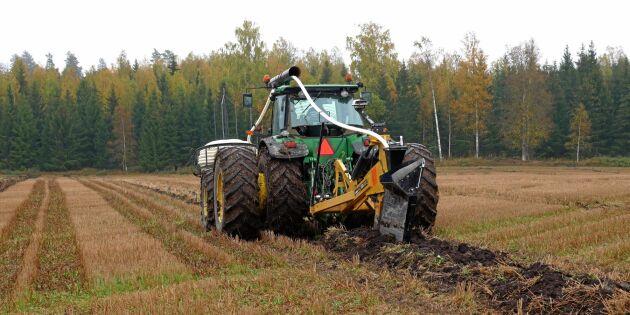 Bristfällig dränering på mycket åkermark