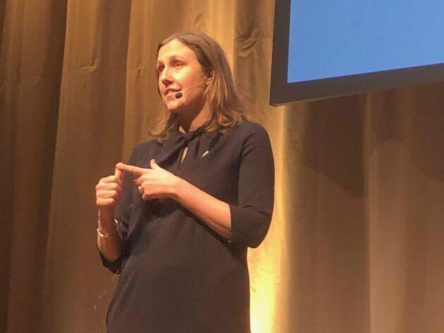 Lena Ehde, chef LRF Mjölk, vill att svensk mjölkproduktion ökar. I dag är självförsörjningsgraden 74 procent på mejeriprodukter.