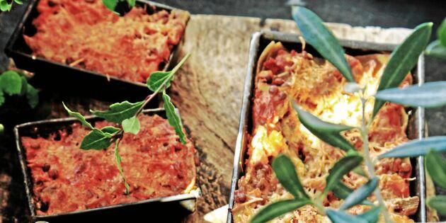 Vegetarisk lasagne – fylld med grönsaker