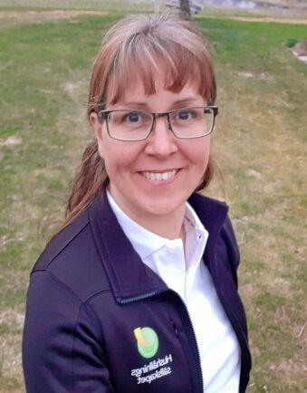 Karin Carlsson på Hushållningssällskapet stötte på Facetime a farmer i samband med ett EU-projektmöte i England.