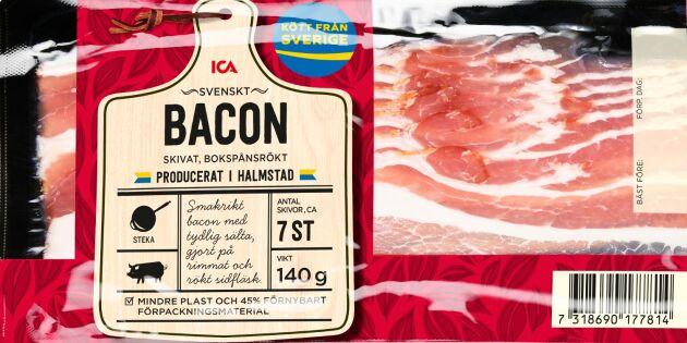 Ett år senare – nu kommer Icas helsvenska bacon