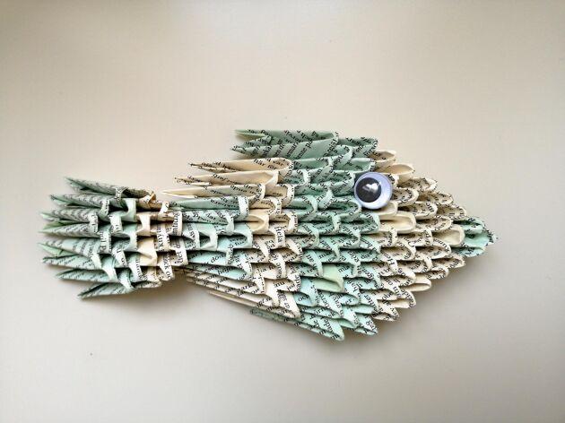 Liten fisk att hänga på väggen.