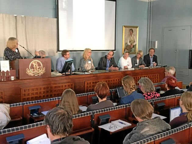 Panelen vid KSLA:s seminarium om svensk forskning och innovation på livsmedelsområdet.
