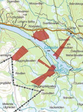 Glöte vid Lofssjön i Härjedalen.