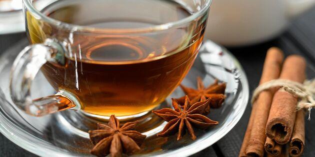Kryddigt te med kanel och nejlika