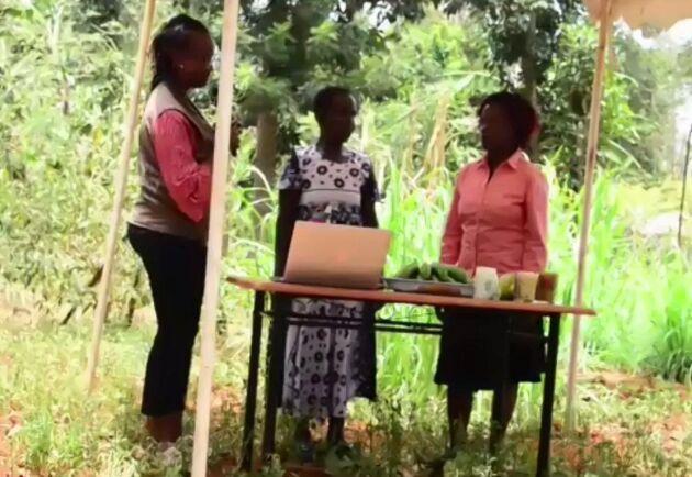 """Elisabeth Mwiyeria (till vänster i bild) är country manager på Vi-skogen i Kenya. Hon berättar att många kvinnor behöver kämpa mot patriarkala strukturer och för rätten att äga mark. """"I många hushåll måste kvinnorna fråga mannen om lov innan hon får plantera ett träd eller liknande. I många fall tar även mannen inkomsten trots att det är kvinnan som arbetar hårt"""", säger hon."""