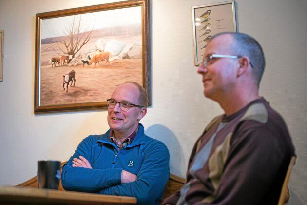 Torbjörn och Stefan Eriksson sätter sig regelbundet ner för att prata om utmaningarna i företaget.