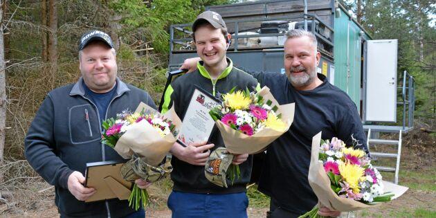 Vinnarna i precist skogsarbete