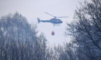 Stor insats vid skogsbrand utanför Alvesta