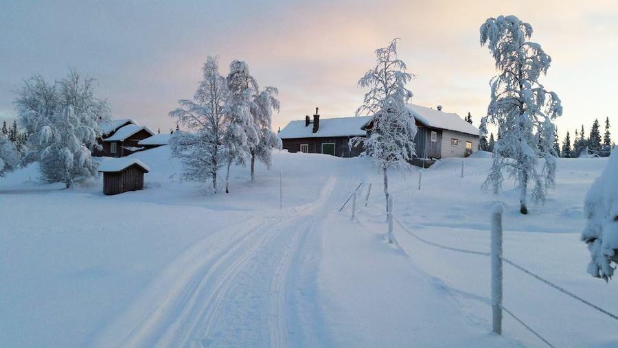 Mangårdsbyggnaden på Lillhärjåbygget.