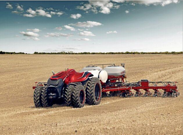 CaseIH förarlösa autostyrda traktor.