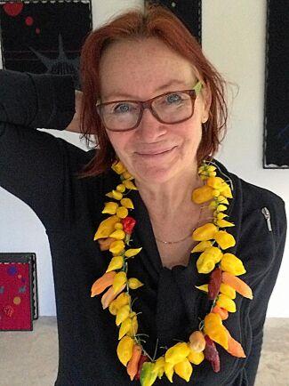 Kerstin Rosengren, författare och chili-kännare.