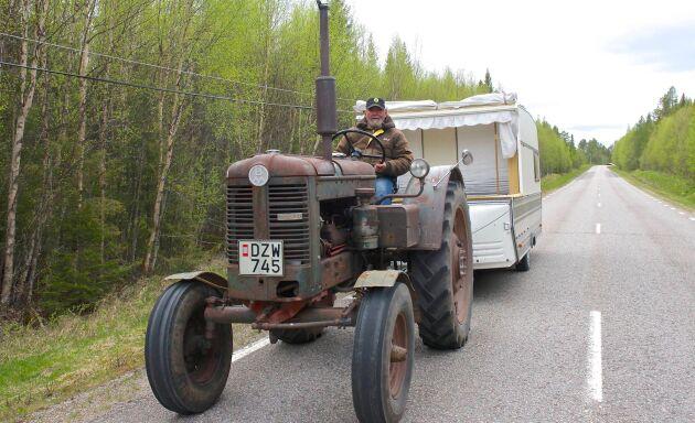 Med en BM 36 från 1954 ska Åke Larsson köra från Perstorp i Skåne till Nordkap i Nordnorge.