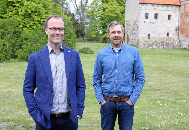 Pär Martinsson (till vänster) är vd i HIR Skåne. Andreas Mårtensson är ansvarig för Borgeby fältdagar.