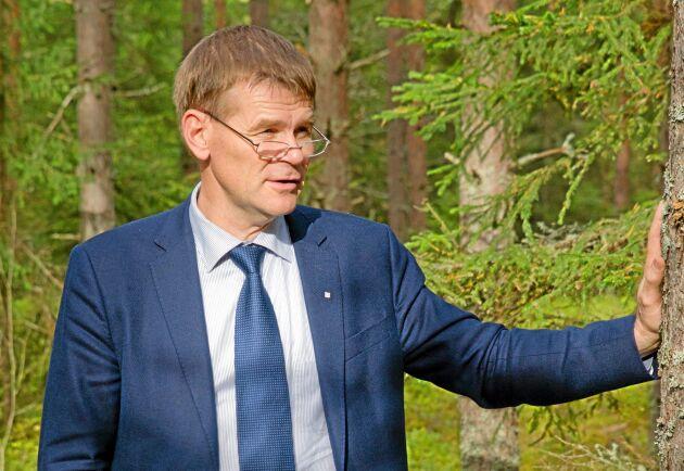 Herman Sundqvist, generaldirektör för Skogsstyrelsen, manar till lugn.