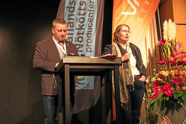 Jan Forsell och Anna Kristoffersson presenterade projektet under årets Köttriksdag i Tylösand.