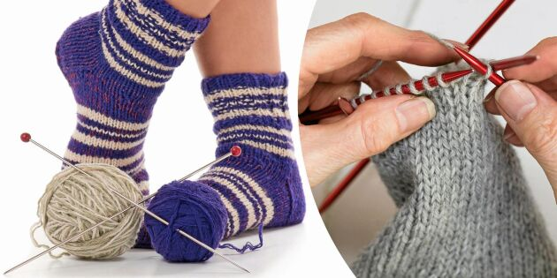 Sockskola del 4: Lär dig sticka fot och tå