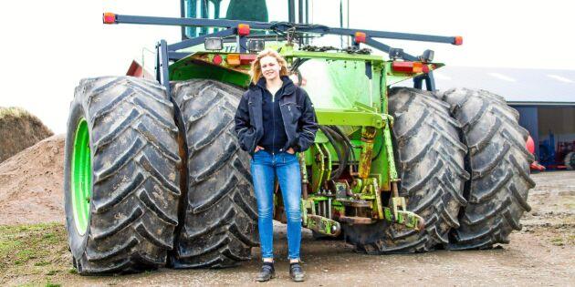 Traktorracing och skrotlyftning är livet för Emelie