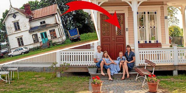 BILDEXTRA: Familjens villa gick från ruckel till drömhem i jugendstil!