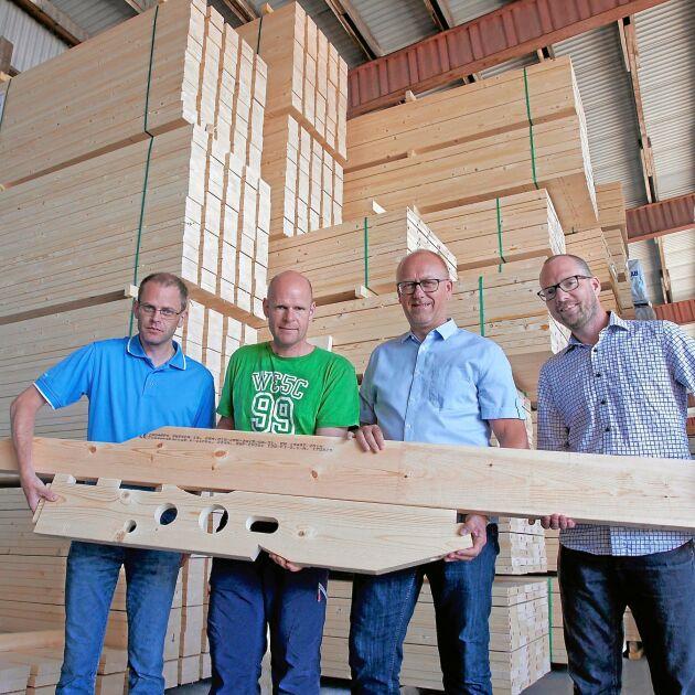 Långsiktighet är ett nyckelord för Ingarps Trävaror, förklarar Christian Hördegård, Mattias Sälleteg, Nicklas Gerhardsson och Andreas Nyrén.