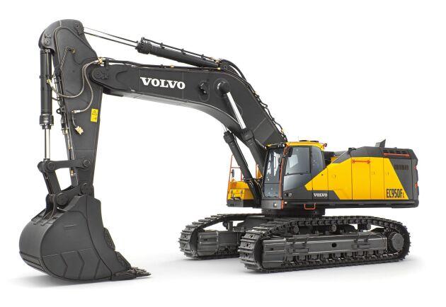 Volvos största grävmaskin, EC950F, har en lyftkapacitet på upp till 34 ton.