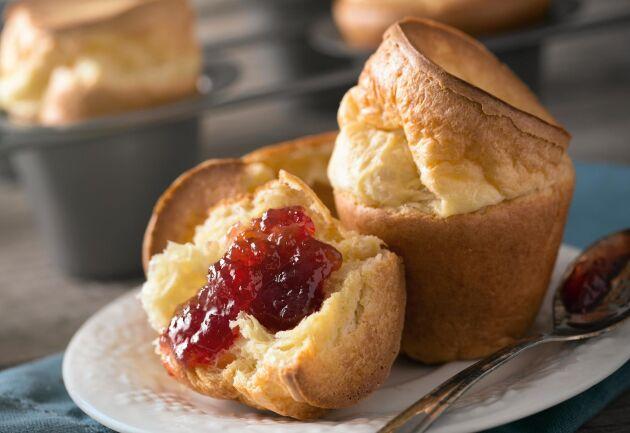 Pannkaksmuffins är en god variant på den älskade klassikern.