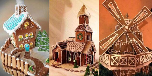 Pepparkakshus i alla möjliga former – inspireras du också!