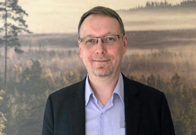 Mathias Fridholm, direktör Svenskt trä.