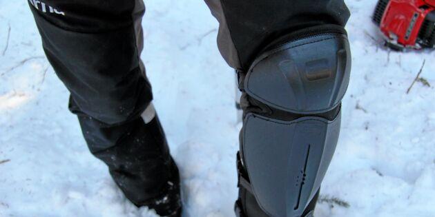 Johan skadade knät svårt under röjning