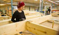 Allt mer trä i husbyggandet