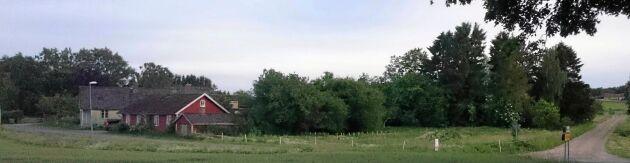 Gården på tre hektar rymmer bland annat två bostadshus och stall.